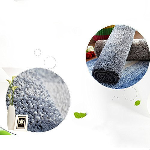 DIDIDD Super soft blue rug shaggy rug / comfortable and durable antibacterial 5080cm brown,Blue by DIDIDD (Image #4)