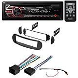 CAR STEREO RADIO RECEIVER + DASH INSTALLATION MOUNTING KIT W/ WIRING HARNESS AND RADIO ANTENNA ADAPTER FOR SELECT VOLKSWAGEN BEETLE VEHICLES