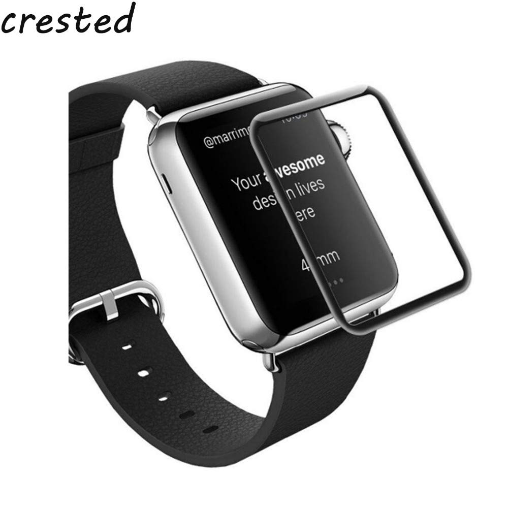 Amazon.com: BATOP Apple Watch Screen Protector || Crested Full Tempered Film for Apple Watch Band 42mm 38mm 3D Curved Surface Anti-Shock Screen Protector ...