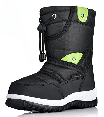 Nova Mountain Little Kid's Winter Snow Boots,NF NFWBN712 Black 7 (Snow Boots For Toddler Boys)