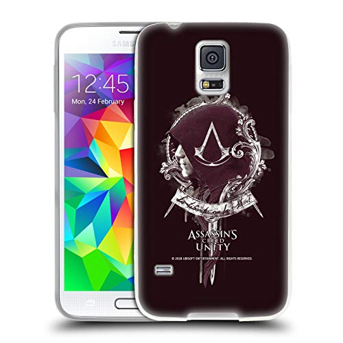Official Assassin's Creed Arno Dorian 2 Unity Character Art Soft Gel Case Compatible for Samsung Galaxy S5 / S5 ()