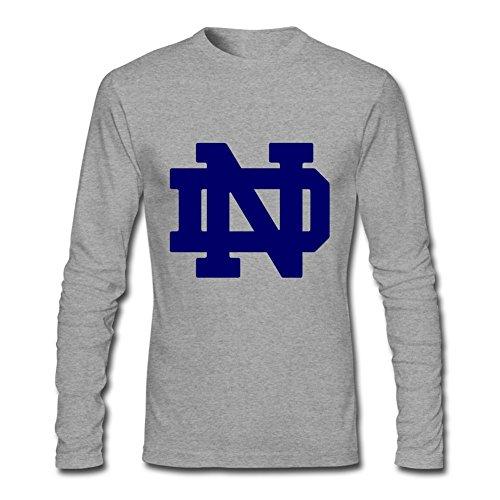 MINIXmas Men's Notre Dame Fighting Irish Performance Costumes Long Sleeve T-shirt Grey S