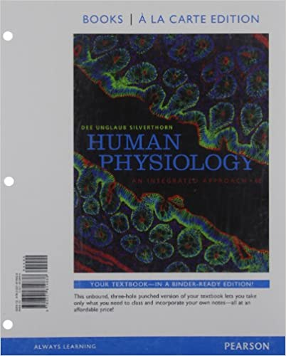 Amazon human physiology an integrated approach books a la amazon human physiology an integrated approach books a la carte edition 6th edition 9780321814838 dee unglaub silverthorn books fandeluxe Images