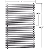 """Stainless Steel 7527 9869 7526 7525 Cooking Grids For Select Weber Grill Models (Dimensions: 17 1/4 X 11 3/4"""" For each unit, 17 1/4"""" X 23 1/2"""" For 2 units)"""