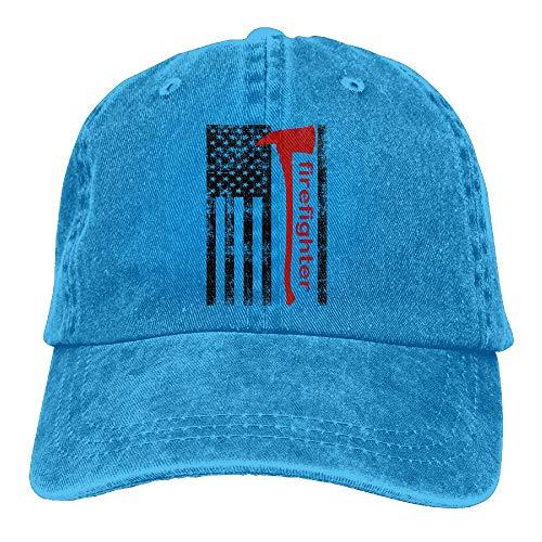 WANING MOON American Firefighter Cowboy Hat Adjustable Baseball Cap Sunhatcap Peaked Cap