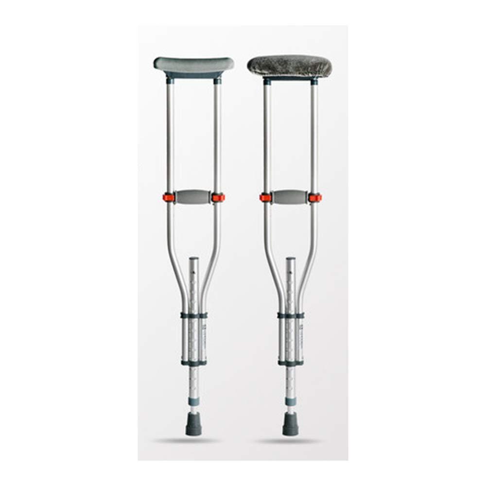 HARDY-YI 老人の下の松葉杖滑り止めスクワットターン扙伸縮式ステッキダブルターン調整可能な高さステッキステッキウォーカー安全杖 -4826 松葉杖   B07QXS4GD6
