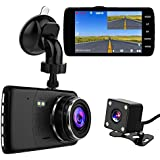 Drive Recorder FORTGESCHE, Dual Drive Recorder,Dash Camera for Car, Front and Rear Camera 1080P Full HD Emergency Recording 18 Million Pixels 170 Degrees Wide Angle Small Dorareco SONY Sensor/Lens 2