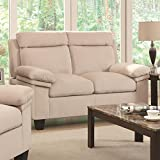 Coaster Home Furnishings Casual Loveseat, Beige White Review