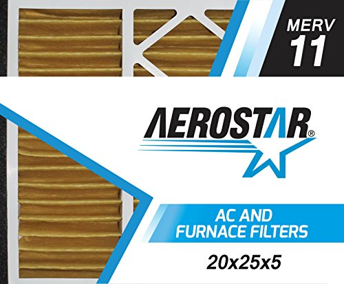 Aerostar 20x26x5 MERV 11, Pleated Air Filter, 20x26x5, Box of 2, Made in the USA