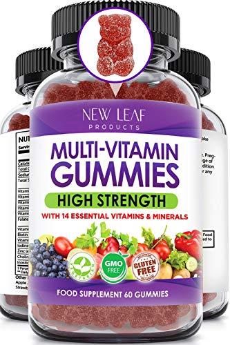 Multivitamin Gummies High Strength for Men Women – Vegetarian +14 Essential Vitamins & Minerals – Gluten Free, Non-GMO…