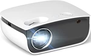 TUQIAODIAN Mini Projector Home Small Portable Ultra-High Definition 4K Wireless Smart Projection,Portable Video Projector 1080p Full HD Supported, Projector Compatible for Home Theatre