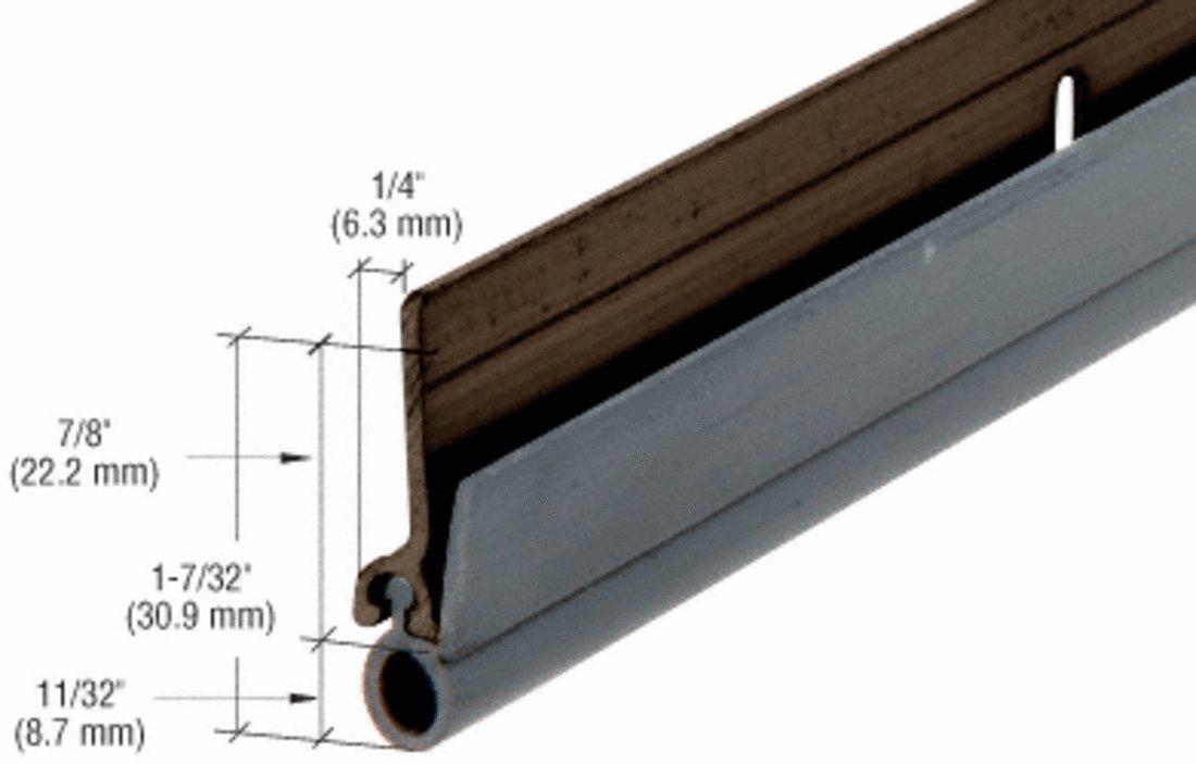 CRL Dark Bronze Finish Extruded Aluminum Vinyl Bulb Weatherseal 72'' X 80'' Opening