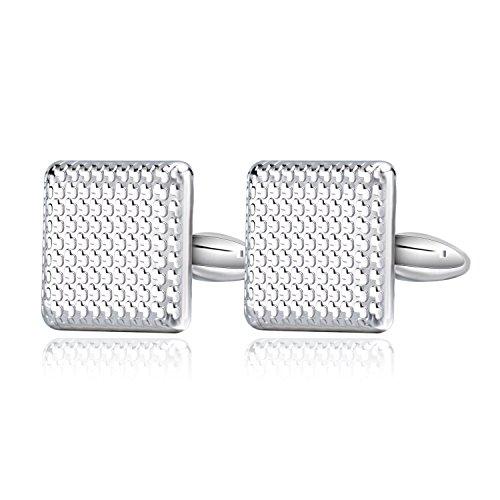 mens jewelry_ mens cufflinks_ stainless steel cufflinks_ square cufflinks_ geometry cufflinks_ metal cufflinks  _shirt mens cufflink