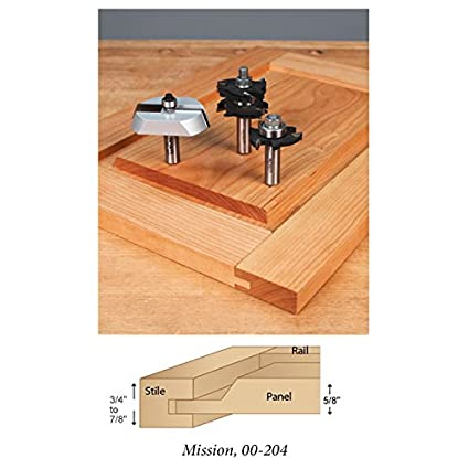 3 Pc Cabinetmakers Mission Door Making Router Bit Set Amazon