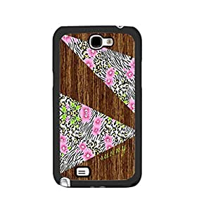 Personalized Floral Wood Pattern Cell Phone Cover Case for Samsung Galaxy Note 2, Hard Plastic Protective Skin Case Shell (zebra stripes black ju5235)