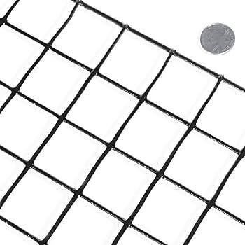 Amazon fencer wire 16 gauge black vinyl coated welded wire mesh fencer wire 16 gauge black vinyl coated welded wire mesh size 15 inch by 15 inch 3 ft x 50 ft keyboard keysfo Images