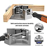 Right Angle Clamp, Housolution Single Handle 90° Aluminum Alloy Corner Clamp, Right Angle Clip Clamp Tool Woodworking Photo Frame Vise Welding Clamp Holder with Adjustable Swin