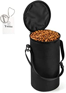 Borsa per alimenti per animali domestici,pieghevole Oxford Borsa da viaggio per cani e gatti Yoome YooHJCW0069-Black