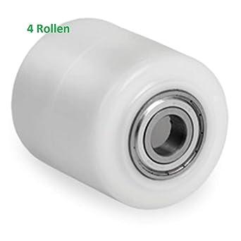 Poliamida/nailon Transpaleta rollo 82 x 70 mm con rodamiento orificio 17