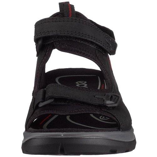 Ecco Offroad 069533 - Sandalias de cuero nobuck para mujer Negro (BLACK201)