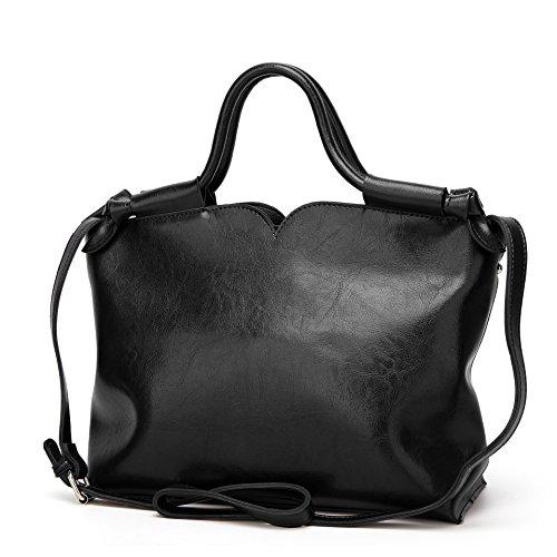 à sac cuir Rétro en Noir femmes Mode à Les LUXIAO Sac de Bag Épaule main 2018 bandoulière nouveau Messenger sauvage wqxZPgI
