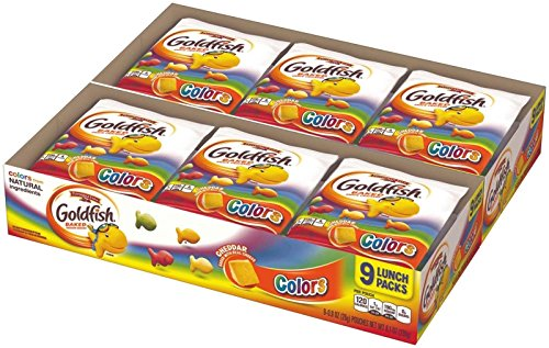 (Pepperidge Farm Goldfish Snack Packs - Cheddar Colors - 0.9 oz - 9 ct - 2 Pack)
