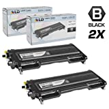 LD © Compatible With Brother Set of 2 TN350 Black Laser Toner Cartridges Compatible With Brother DCP 7020, HL 2030, HL 2040, HL 2070N, Intellifax 2820, 2920, MFC 7220, MFC 7225N, MFC 7420, and MFC 7820N Printers