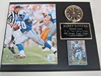 Barry Sanders Detroit Lions Collectors Clock Plaque w/8x10 Photo and Card