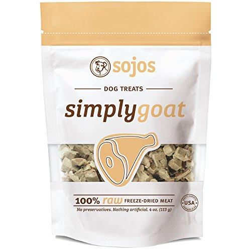 Sojos 557112 Simply Goat Freeze-Dried Dog Treat, 4 Oz