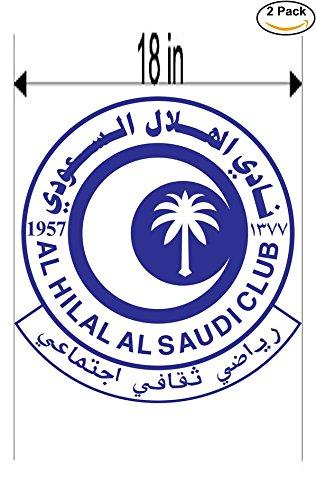 fan products of Al Hilal Saudi Arabia Soccer Football Club FC 2 Stickers Car Bumper Window Sticker Decal Huge 18 inches