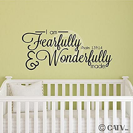 Amazon.com: I Am Fearfully And Wonderfully Made Psalm 139:14 wall ...