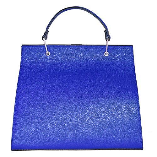 Bleu Made Electrique En Femme Borderline 100 Cuir Sac In Anna Italy zZnw5fPT5q