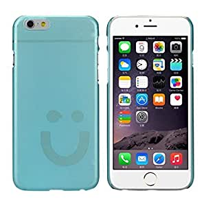 Sannysis Sweet Ultra Slim PC smiley Crystal Hard Case For iPhone 6 4.7 Inch (Blue)