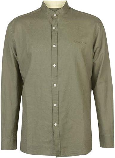 Pierre Cardin - Camisa Casual - para Hombre Verde Oliva Small ...