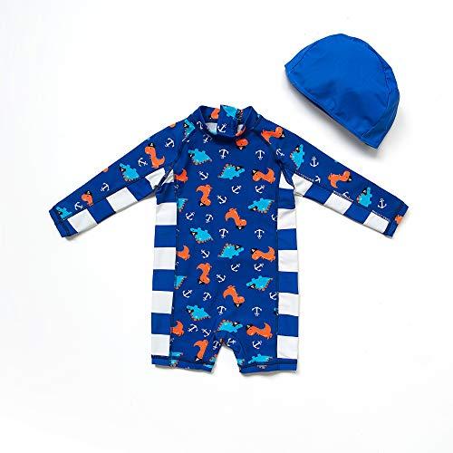 Bonverano(TM Infant Boy's UPF 50+ Sun Protection L/S One Piece Zip Sun Suit (24-36 Months, Navy) by Bonverano