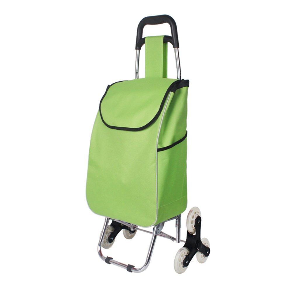 ショッピングキャ ショッピングカートショッピングカート小型プルカット折りたたみ式トロリー車小型トレーラーホーム便利 ++ (色 : 緑, サイズ さいず : A) A 緑 B07QJ4K3N4