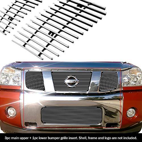 APS Fits 2004-2007 Nissan Titan/Armada Billet Grille Upper+Bumper Combo #N67992A