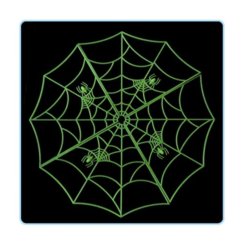 Animated Witch's Spell Book Prop (Luminous Spider Web, Glow in the Dark Spider Web Halloween Haunted House KTV Bar Decoration Props, Diameter 23.62'')
