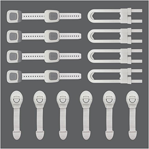 (Cazul Goods Baby Proofing Adjustable Safety Locks Kit - 14 pieces)