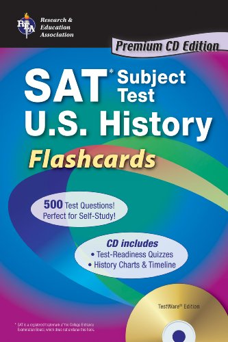 SAT Subject Test™: U.S. History Flashcards with CD (SAT PSAT ACT (College Admission) Prep)