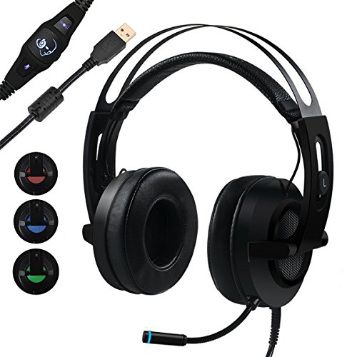Gaming Headset, MFEEL 7.1 Surround Sound Stereo Vibration...