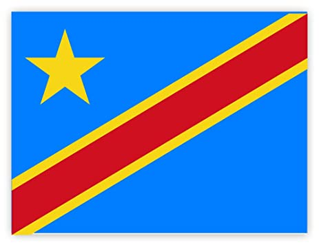 Congo drc flag sticker decal 5