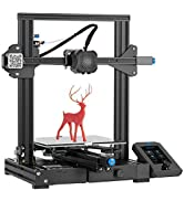 Creality Official Ender 3 V2 3D Printer with MeanWell Power Supply Upgraded Version of Ender 3 Pr...