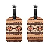 Set of 2 Luggage Tags Classic Africa Art Suitcase Labels Travel Accessories
