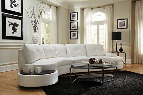 1PerfectChoice Talia White Contemporary Sectional Conversation Sofa
