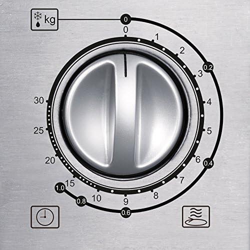900 W Severin MW 7869 color plata y negro Microondas con grill acero inoxidable mate