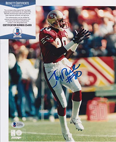 Jerry Rice Autographed 8x10 Photo - JERRY RICE Signed SAN FRANCISCO 49ers 8x10 photo + BAS Beckett COA E54901