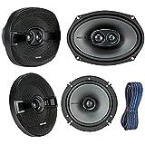 Kicker 44KSC69304 6x9 KS-Series Car Speakers with Poly-Switch (Pair), Kicker 44KSC6504 6.5 KS-Series Car Audio Stereo Speakers (Pair), Kicker KW1650 50FT 16-AWG K-Series Speaker Wire