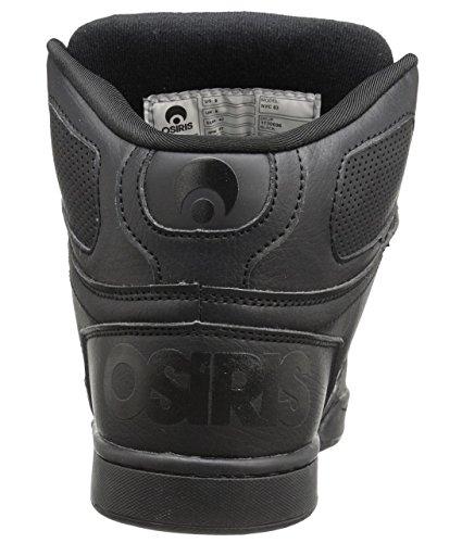 Osiris NYC 83 Black Mens Hi Top Skate Trainers Shoes -8