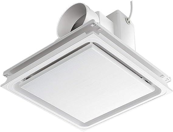 Knoijijuo Cuarto de baño Extractor de Aire Ventilador de la Campana de ventilación de Escape 12 Baño Techo presupuesto Pulgadas más silenciosos Potente Amortiguador,A5~10m: Amazon.es: Hogar